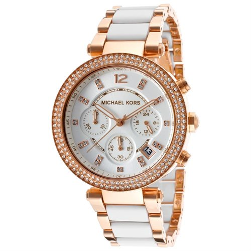 Michael Kors Parker Chronograph Ladies' White Dial Watch MK5774
