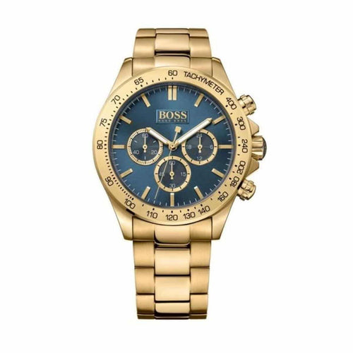EX DISPLAY - Hugo Boss Men's Ikon Chronograph Gold/Blue Watch HB1513340
