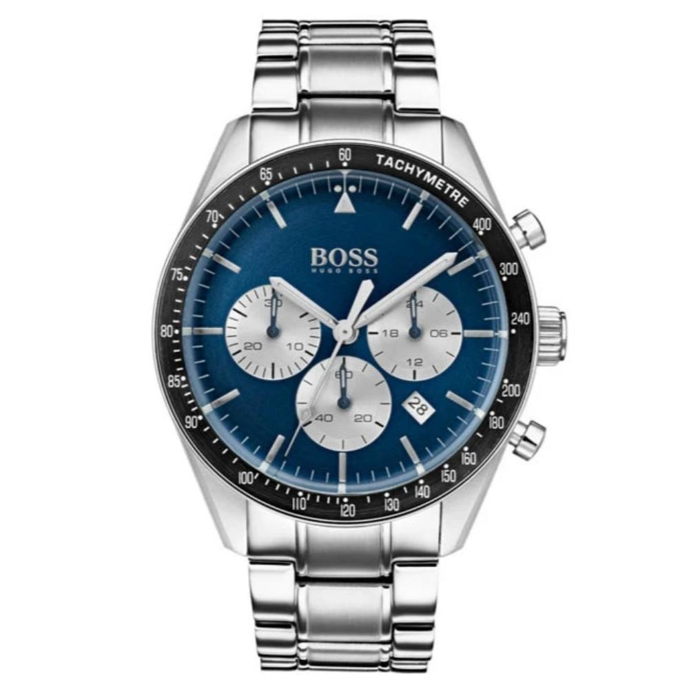 Hugo Boss Mens Trophy Blue Dial Chronograph Watch HB1513630