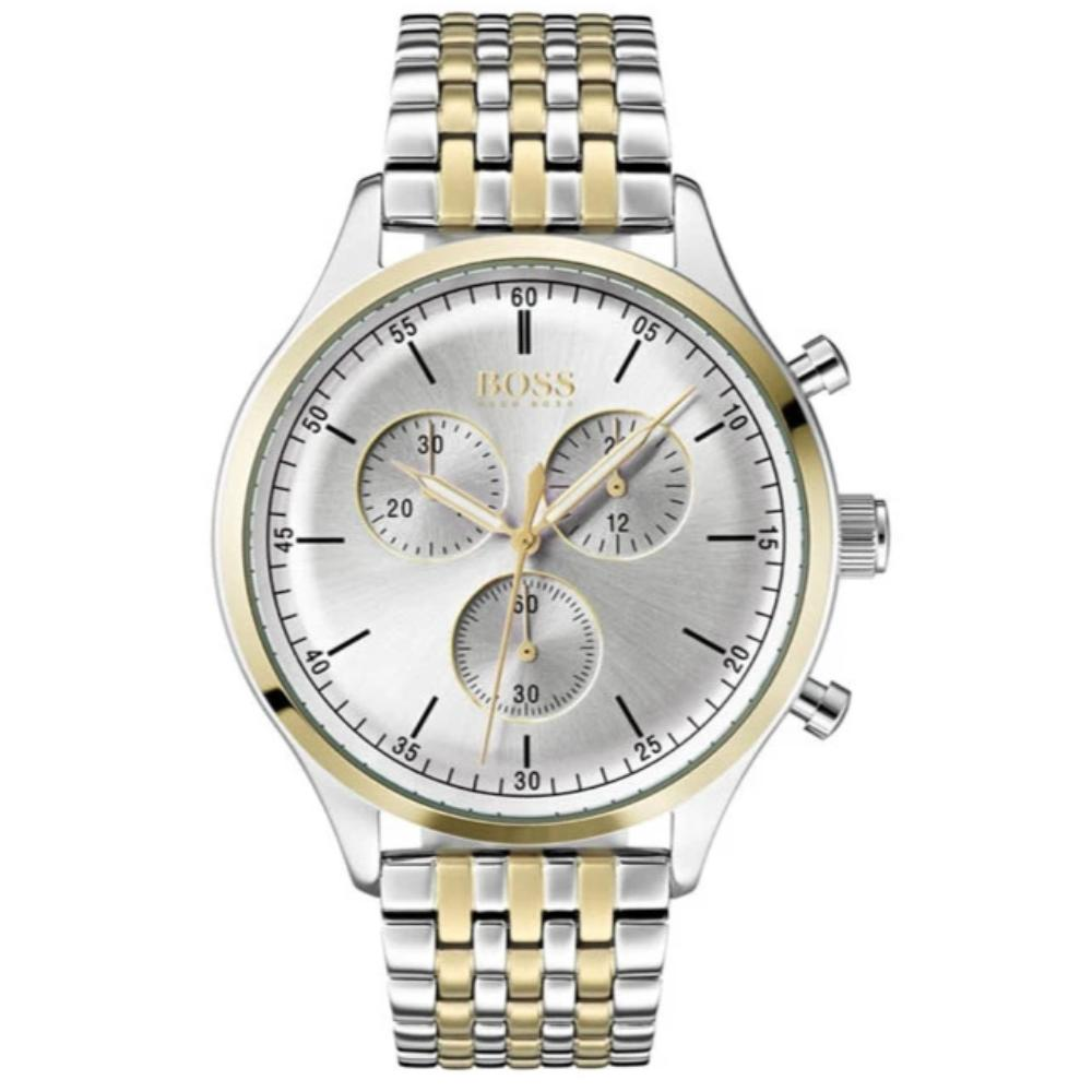 Hugo Boss Men's Companion Two-Tone Silver Gold Chronograph Watch HB1513654