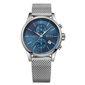 Hugo Boss Jet Men's Watch Blue Analogue Quartz Stainless Steel Silver