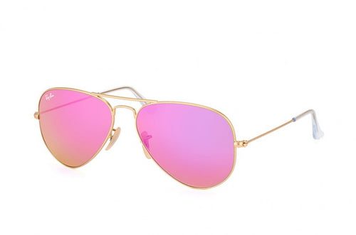 Ray-Ban Aviator Pink Lens Metal Sunglasses RB3025 112/4T