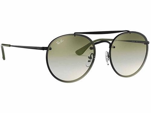 Brand New Ray-Ban Oval Double Bridge Green/Black Sunglasses - RB3614N 148/0R