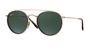 Brand New Ray-Ban Round Double Bridge Sunglasses - RB3647N 001 - Unisex