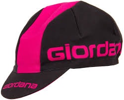 Giordana Black/Red Cotton Cap - RED