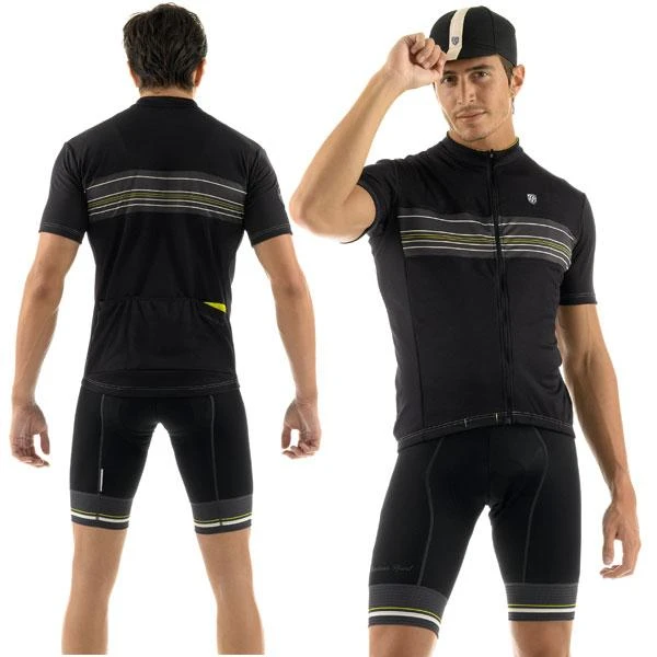 Giordana Sport Jersey - Black/Yellow