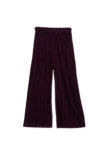 crop pleated pants