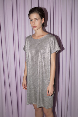 SS foil SQ dress