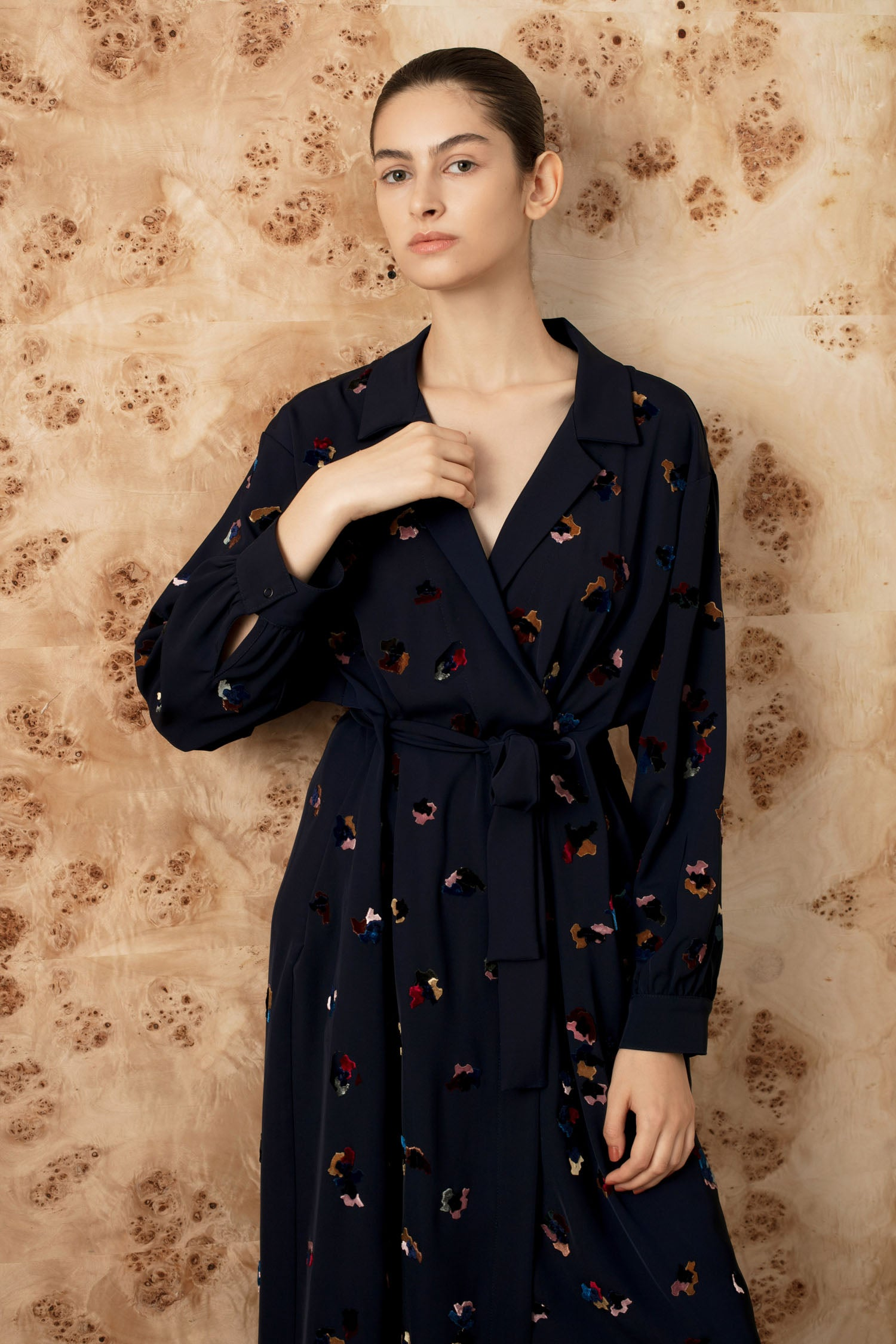 FW Bosch wrap jacket dress