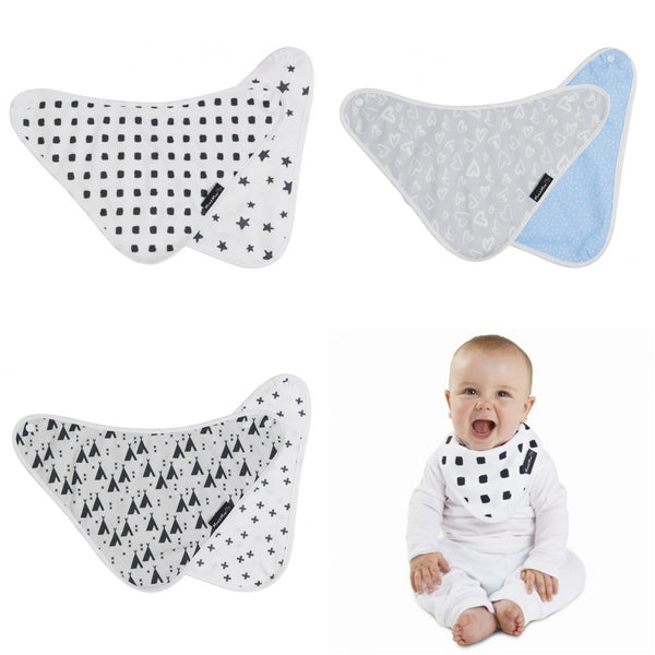 Bamboo Reversible Patterned Bib