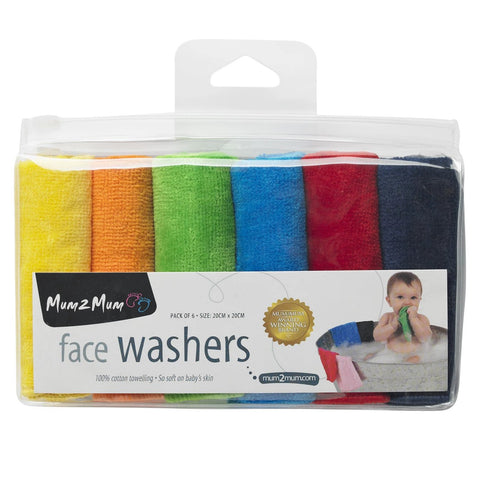 Mum 2 Mum Little Cotton Facewashers Brights