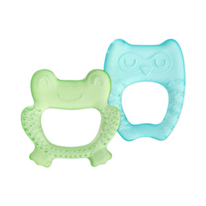 Cool Nature Teether - Two Pack - Green & Aqua / Yellow & Aqua