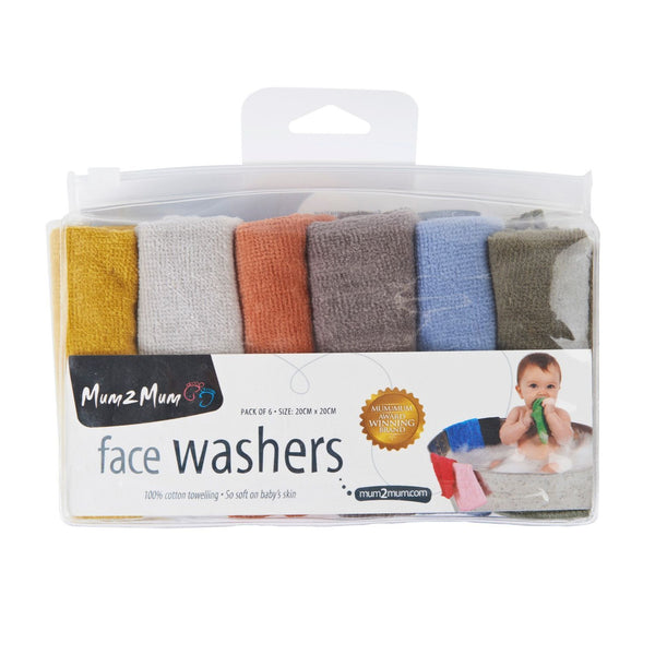 face Washers Reusable Cloths Earth Tones