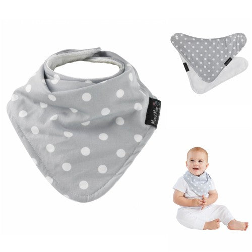 Bib Reversible Patterned Grey Dots