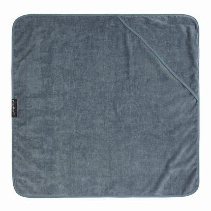 Hooded Grey Towel Laying Flat