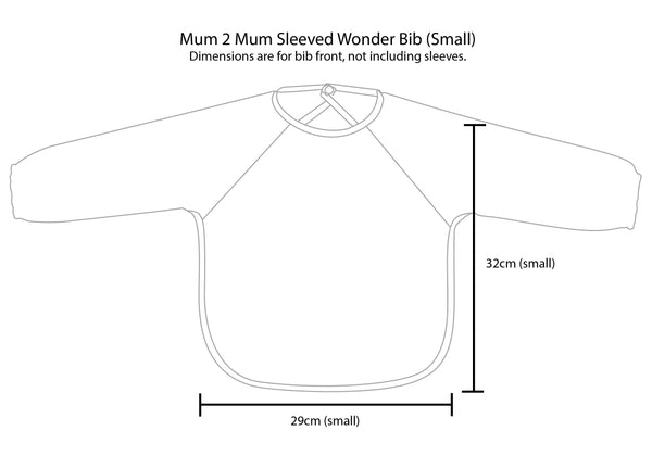 Sleeved Wonderbib Measurements