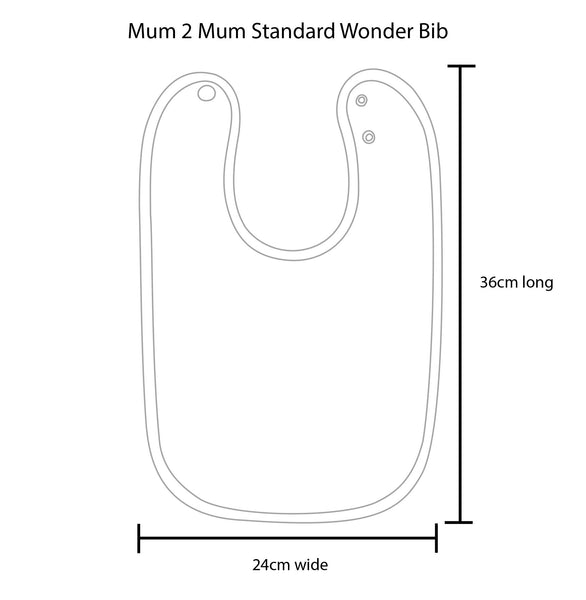 Standard Wonderbib Measurements