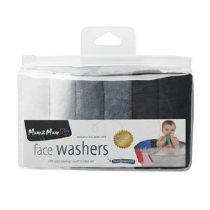 Facewashers Cloth Monochrome Gift Packaging