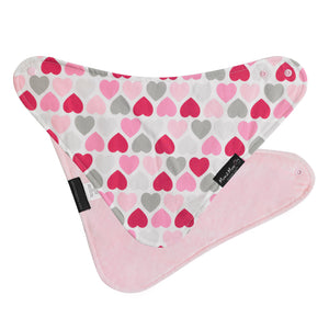 SQUARE Fashion Pink Hearts Flat