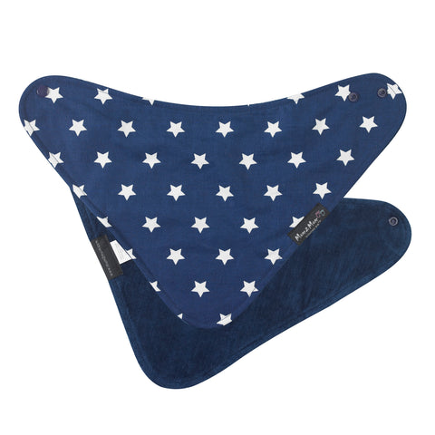 Fashion Bandana Reversible Bib Blue Star Flat