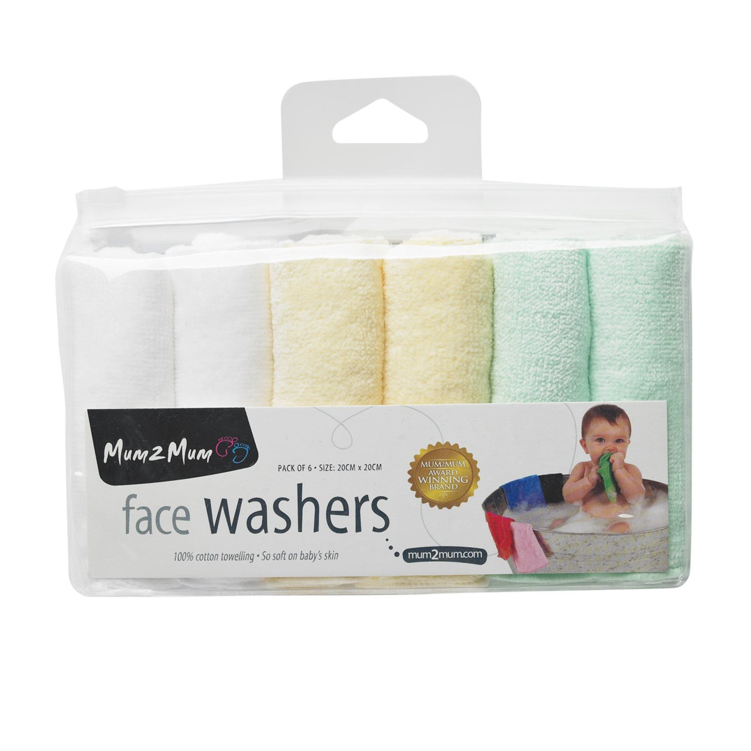 Facewashers Cloth Pastel Gift Pack Packaging
