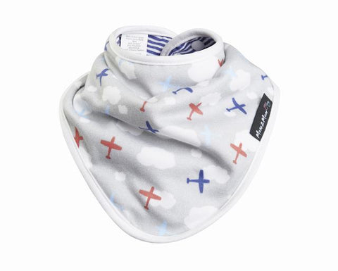 Bamboo Bandana - Planes / Nautical Stripe