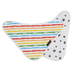 Bamboo Wonder Bib Colourful Stripe Flat 2 Sides