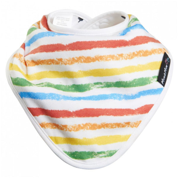Bamboo Wonder Bib Colourful Stripe FlatWorn