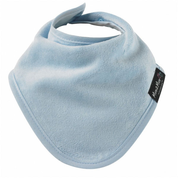 Bandana Wonder Bib Baby Blue Worn