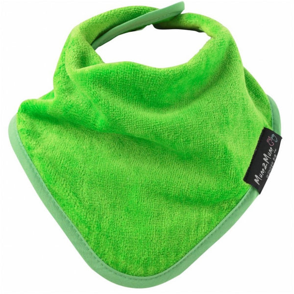 Bandana Wonder Bib Lime Green Worn
