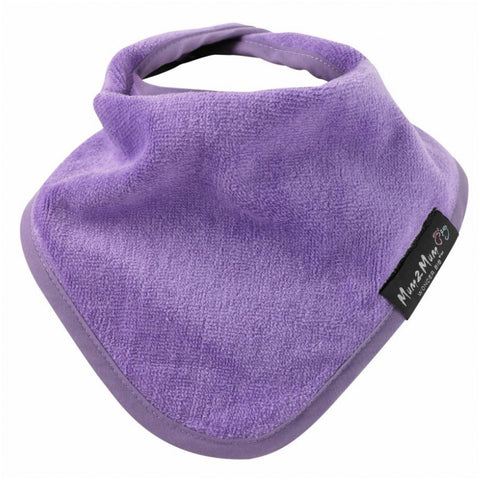 Bandana Wonder Bib Purple Worn