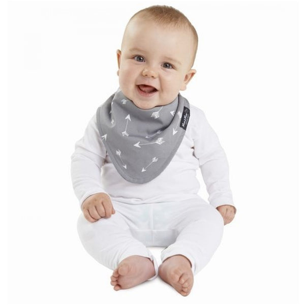 Fashion Bandana Reversible Bib Grey Arrows Modelled