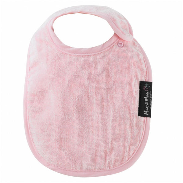 Infant Bib Baby Pink Worn