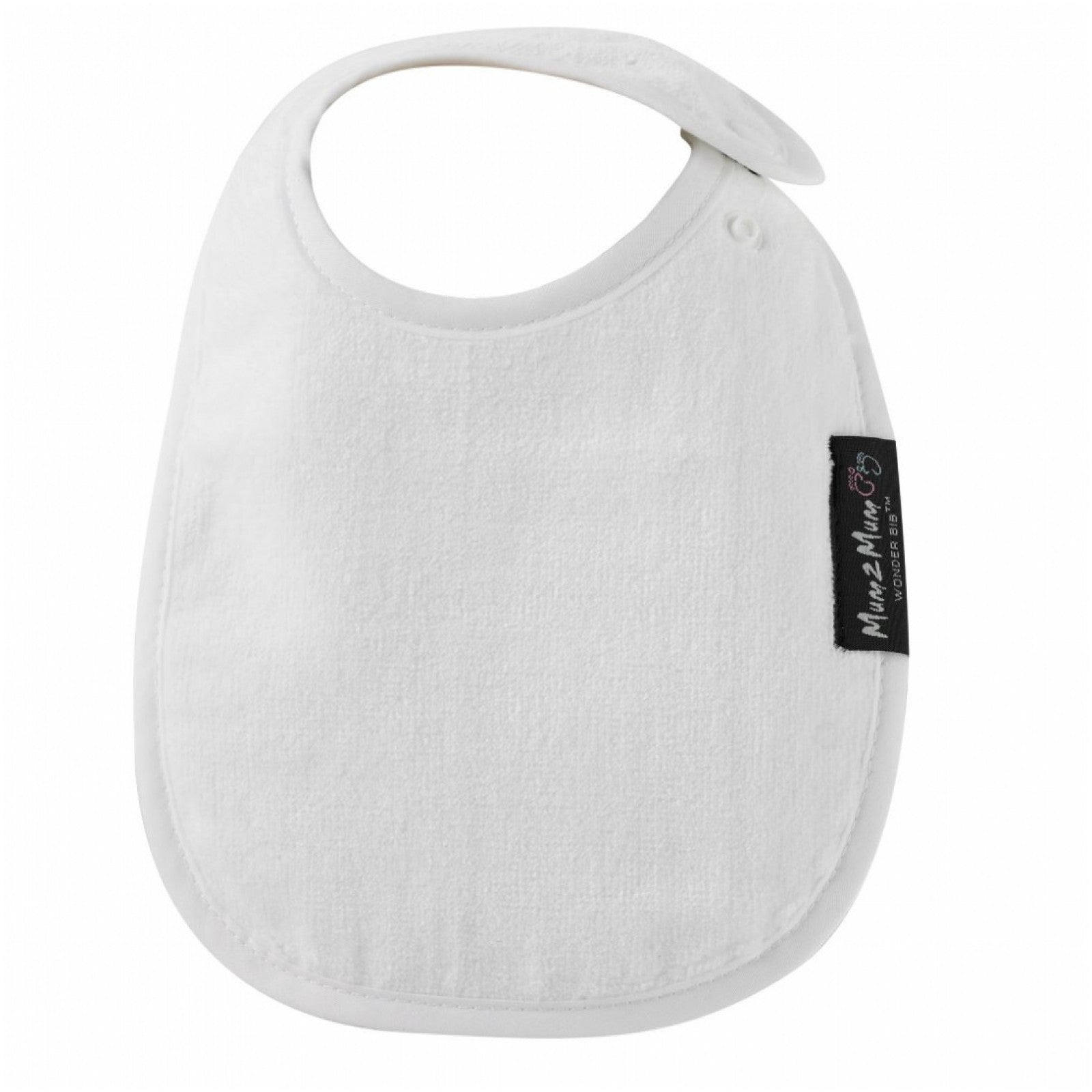 Infant Bib White Worn