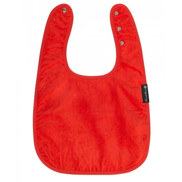 Adult Back Opening Apron Red Flat