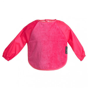 Sleeved Wonderbib Cerise Pink Worn