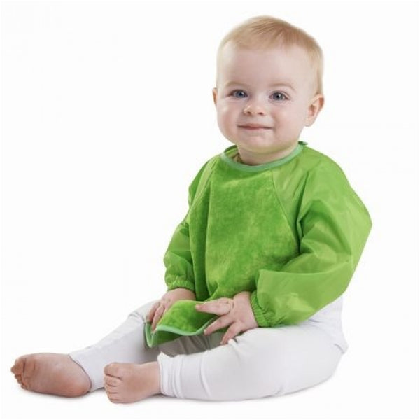 Sleeved Wonderbib Lime Green Insitu