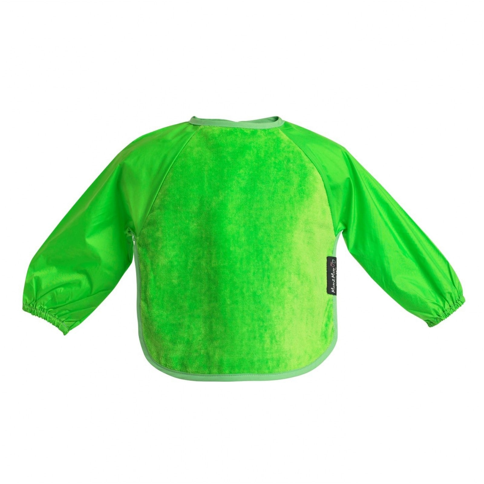 Sleeved Wonderbib Lime Green Worn