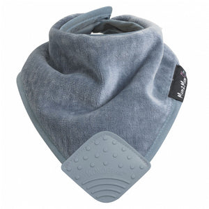 Mum 2 Mum Teether Attached Bandana Wonder Bib Grey