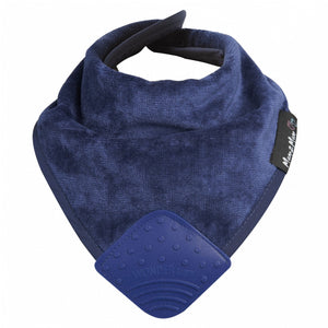 Mum 2 Mum Teether Attached Bandana Wonder Bib Navy