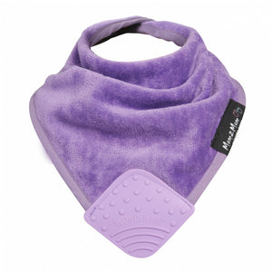 Mum 2 Mum Teether Attached Bandana Wonder Bib Purple