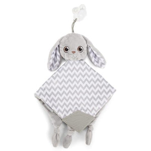 Bunny soother teething blanket
