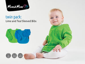 Sleeved Wonderbib Lime Green & Teal Multipacl