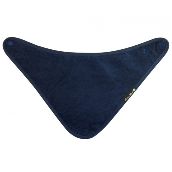 Youth Bandana bib Navy Blue flat