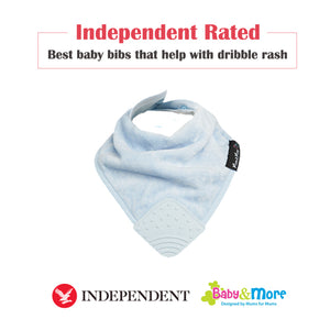 Mum 2 Mum Teether Attached Bandana Wonder Bib Baby Blue