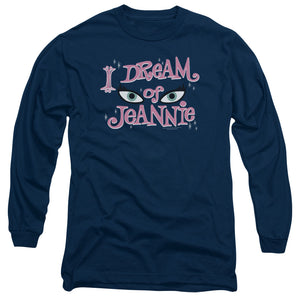 I Dream Of Jeannie Eyes Long Sleeve T-Shirt Adult Unisex Fans Navy Blue