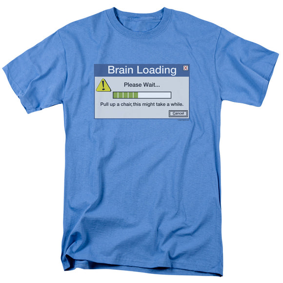 Brain Loading Please Wait Short Sleeve T-Shirt Adult Unisex Funny Tee