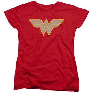 Wonder Woman Classic Logo Short Sleeve Women's T-Shirt Fandom