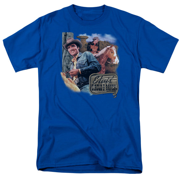 Elvis Circle G Ranch Short Sleeve T-Shirt Adult Unisex Actor Entertainer