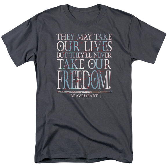 Braveheart Freedom Short Sleeve T-Shirt Adult Unisex War Movie